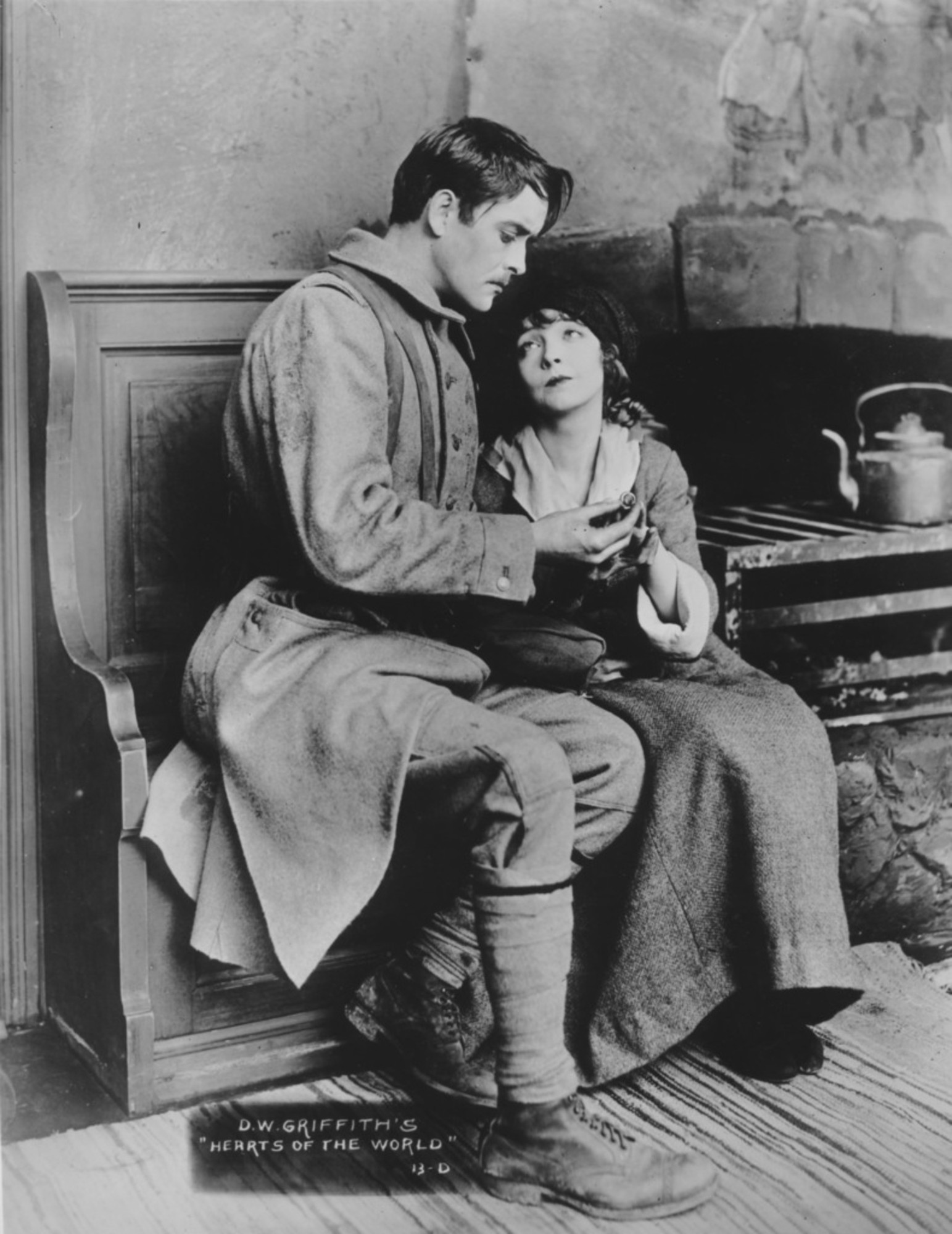 1918. USA. Directed by D. W. Griffith. With Lillian Gish, Robert Harron, Dorothy Gish, George Siegmann. Griffith's great epic focusing on the brutal treatment of the French following the German invasion—shown here in a newly restored, tinted print—was released in America eight months before the armistice. Silent, with musical accompaniment. Approx. 140 min.