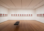 Installation view of Andy Warhol: Campbell's Soup Cans and Other Works, 1953–1967. Photo: Jonathan Muzikar. © 2015 The Museum of Modern Art, New York