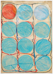 Atsuko Tanaka. *Untitled.* 1956. Watercolor and felt-tip pen on paper, 42 7/8 × 30 3/8″ (108.9 × 77.2 cm). The Museum of Modern Art, New York. Purchased with funds provided by the Edward John Noble Foundation, Frances Keech Fund, and Committee on Drawings Funds. © 2010 Ryoji Ito