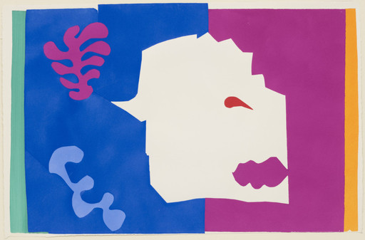 "Henri Matisse (French, 1869–1954). The Wolf (Le Loup) from Jazz. 1947. One from a portfolio of twenty pochoirs, composition (irreg.): 16 1⁄2 × 24 15⁄16"" (41.9 × 63.4 cm); sheet: 16 5⁄8 × 25 11⁄16"" (42.3 × 65.3 cm). Gift of the artist. © 2014 Succession H. Matisse / Artists Rights Society (ARS), New York"