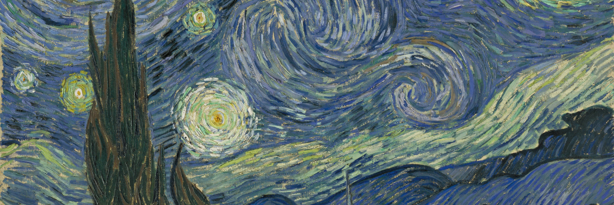 Vincent van Gogh. <em>The Starry Night.</em> Saint Rémy, June 1889. Oil on canvas, 29 × 36 1/4ʺ (73.7 × 92.1 cm). Acquired through the Lillie P. Bliss Bequest. Photo © 1999 The Museum of Modern Art, N.Y.