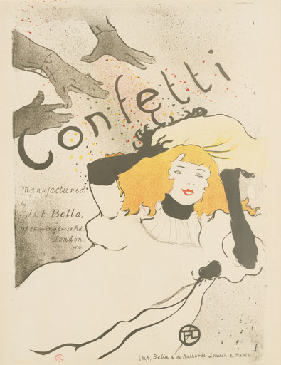 Henri de Toulouse-Lautrec (French, 1864–1901). Confetti. 1894. Lithograph, sheet: 22 7⁄16 x 17 9⁄16 in. (57 x 44.6 cm) The Museum of Modern Art, New York. Acquired in honor of Joanne M. Stern by the Committee on Prints and Illustrated Books in appreciation for her contribution as Committee Chair, 1999