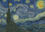 "Vincent van Gogh. The Starry Night. 1889. Oil on canvas, 29 x 36 1⁄4"" (73.7 x 92.1 cm). The Museum of Modern Art, New York. Acquired through the Lillie P. Bliss Bequest"