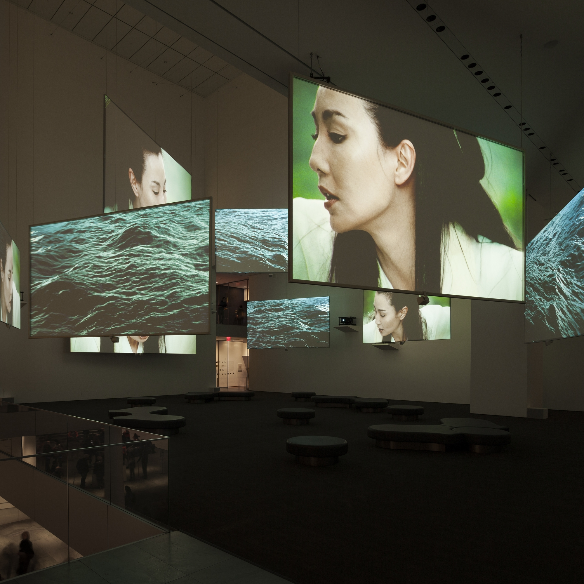 Isaac Julien. Ten Thousand Waves. 2010. Nine-channel video installation (color, sound). 49:41 min. The Michael H. Dunn Memorial Fund. The Museum of Modern Art, New York. Photo: Jonathan Muzikar.