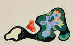 Roberto Burle Marx. Garden Design Saenz Peña Square, Rio de Janeiro, Brazil, Plan, 1948. Gouache on paper, 24 3⁄8 × 40″ (61.9 × 101.6 cm). The Museum of Modern Art, New York. Gift of Philip L. Goodwin