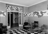 The Swimming Pool in Matisse's dining room at the Hôtel Régina, Nice, 1953. Photo: Hélène Adant. © Centre Pompidou - MnamCci - Bibliothèque Kandinsky