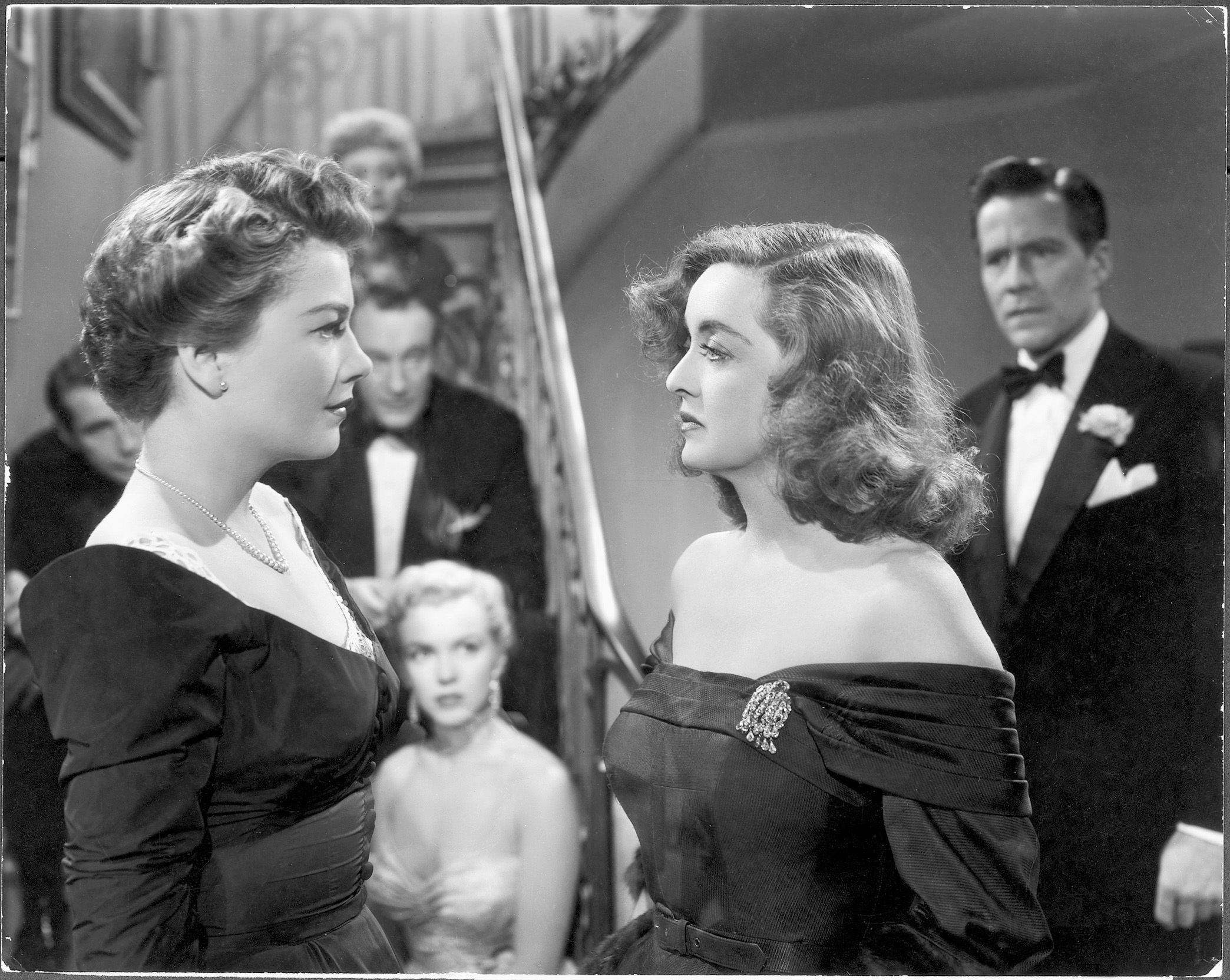 All About Eve (1950). Directed by Joseph Mankiewicz. Credit: MoMA Film Archive. Pictured: Anne Baxter, Bette Davis, George Sanders