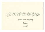 Yoko Ono. YOKO ONO MORNING PEACE 2015. Spring 2015. Ink on paper; drawing for the event