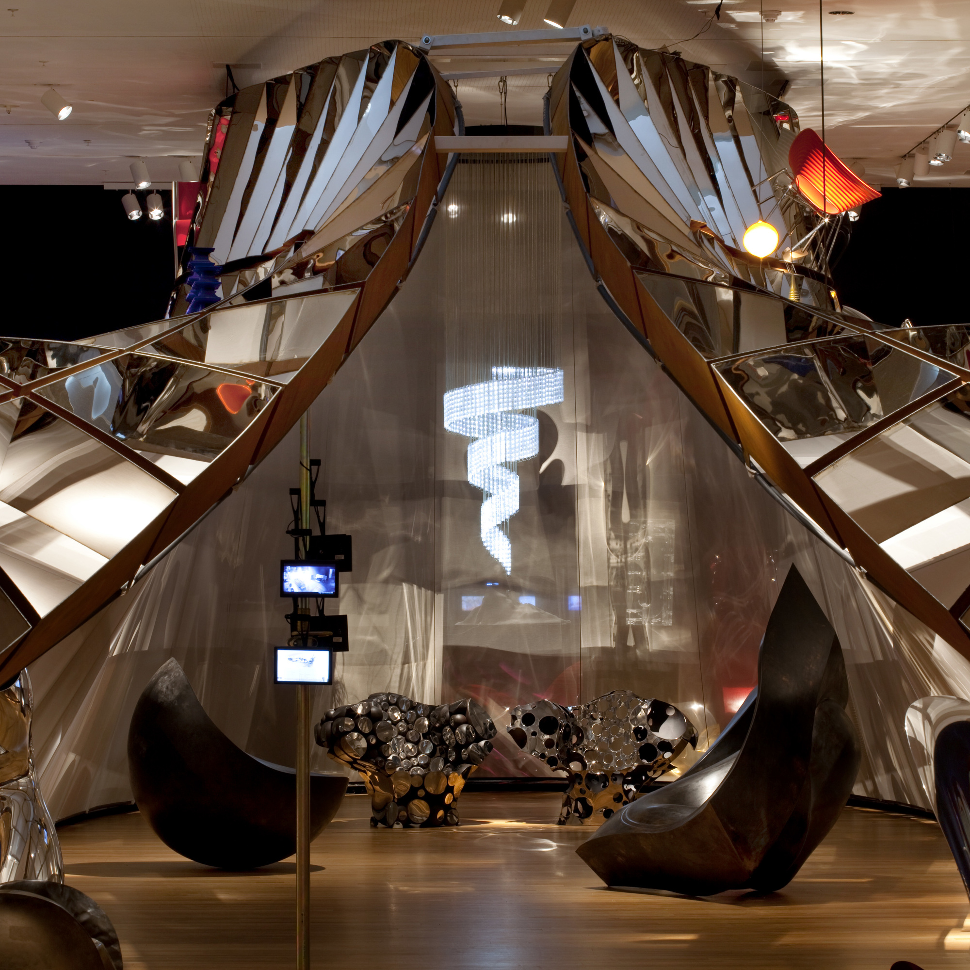 Installation view of Ron Arad: No Discipline at The Museum of Modern Art. Photo: Jason Mandella