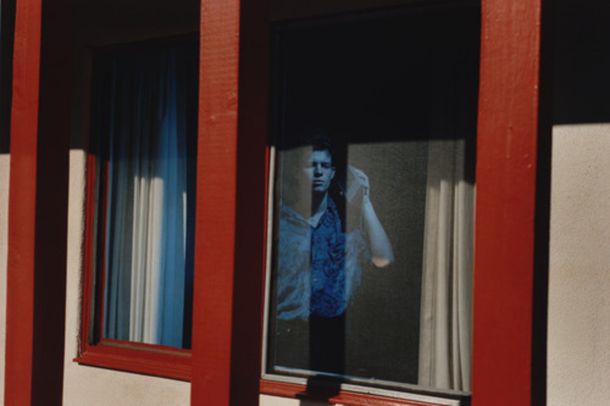 "Philip-Lorca diCorcia. William Charles Everlove; 26 years old; Stockholm, Sweden via Arizona; $40. 1990–92. Chromogenic color print, 23 3/4 x 34 13/16"" (60.4 x 88.5 cm). Gift of Carol and Arthur Goldberg. © 2013 Philip-Lorca diCorcia, courtesy David Zwirner, New York"