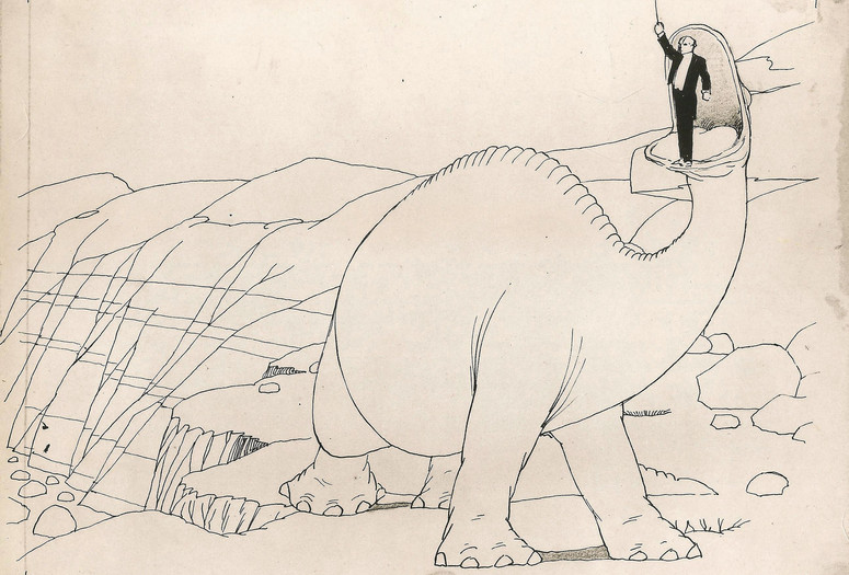 Original animation drawing for Gertie the Dinosaur. USA. 1914. Directed by Winsor McCay. Courtesy John Canemaker