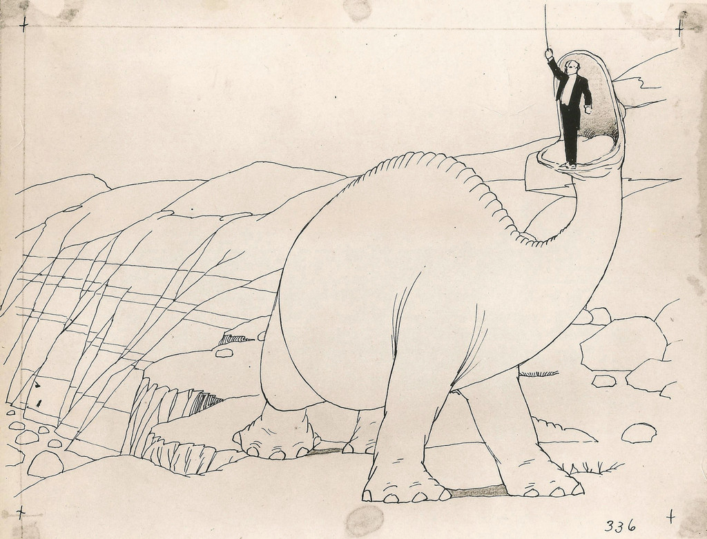 Original animation drawing for *Gertie the Dinosaur*. USA. 1914. Directed by Winsor McCay. Courtesy John Canemaker