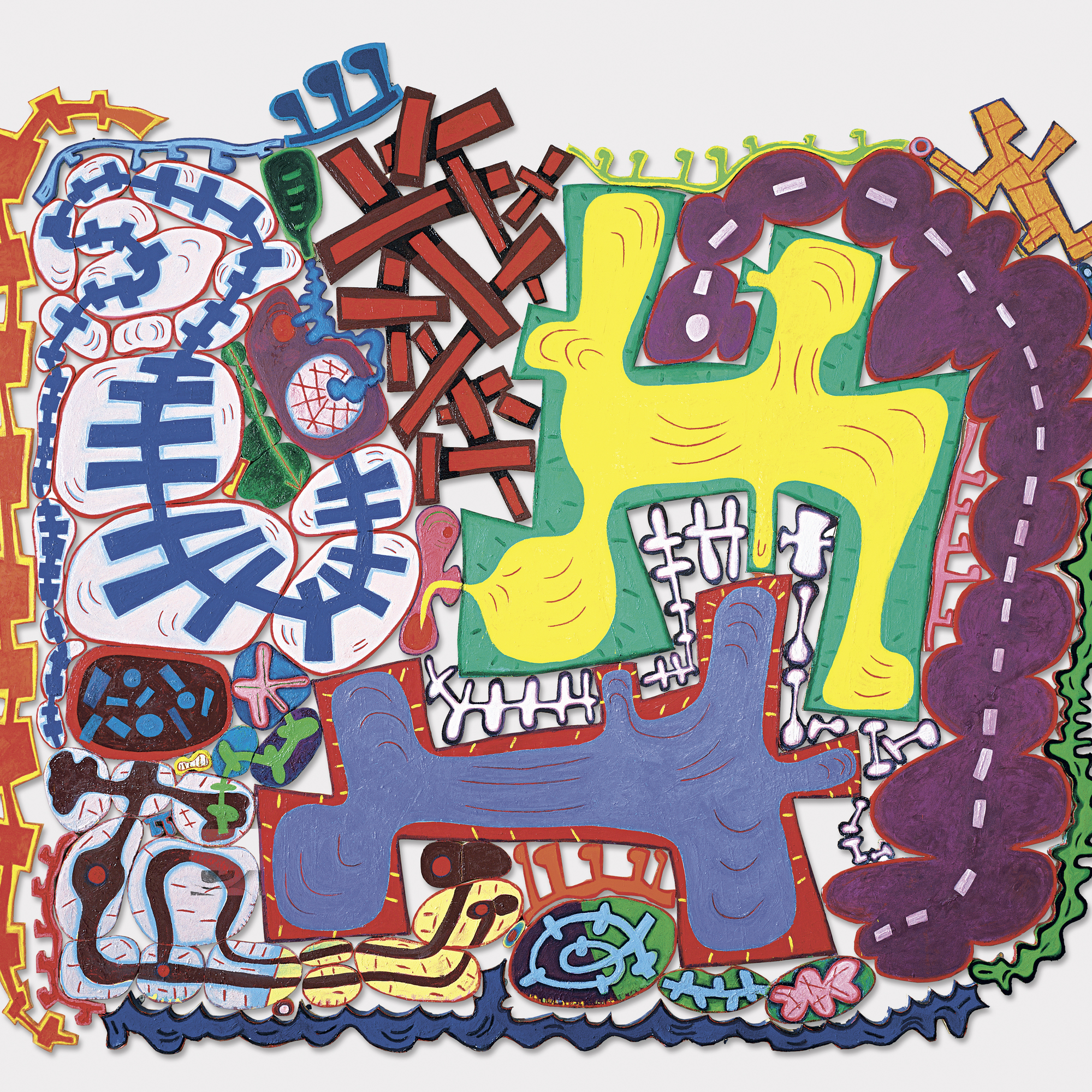 Elizabeth Murray. Do the Dance. 2005. Oil on canvas, 9′5″ × 11′3″ × 1 1/2″ (287 × 342.9 × 3.8 cm). Courtesy PaceWildenstein. Photo: David Allison. © 2005 Elizabeth Murray