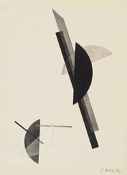 László Moholy-Nagy. *Untitled*, from *Constructions.* 1923. Lithograph, sheet: 23 9/16 × 17 5/16″ (59.8 × 44 cm). Publisher: Eckart von Sydow and Verlag des Buchhändlers Ludwig Eye, Hannover, Germany. Printer: Leunis & Chapman, Hannover, Germany. Edition: 50. The Museum of Modern Art. Acquired through the publisher. © 2008 Artists Rights Society (ARS), New York/VG Bild-Kunst, Bonn