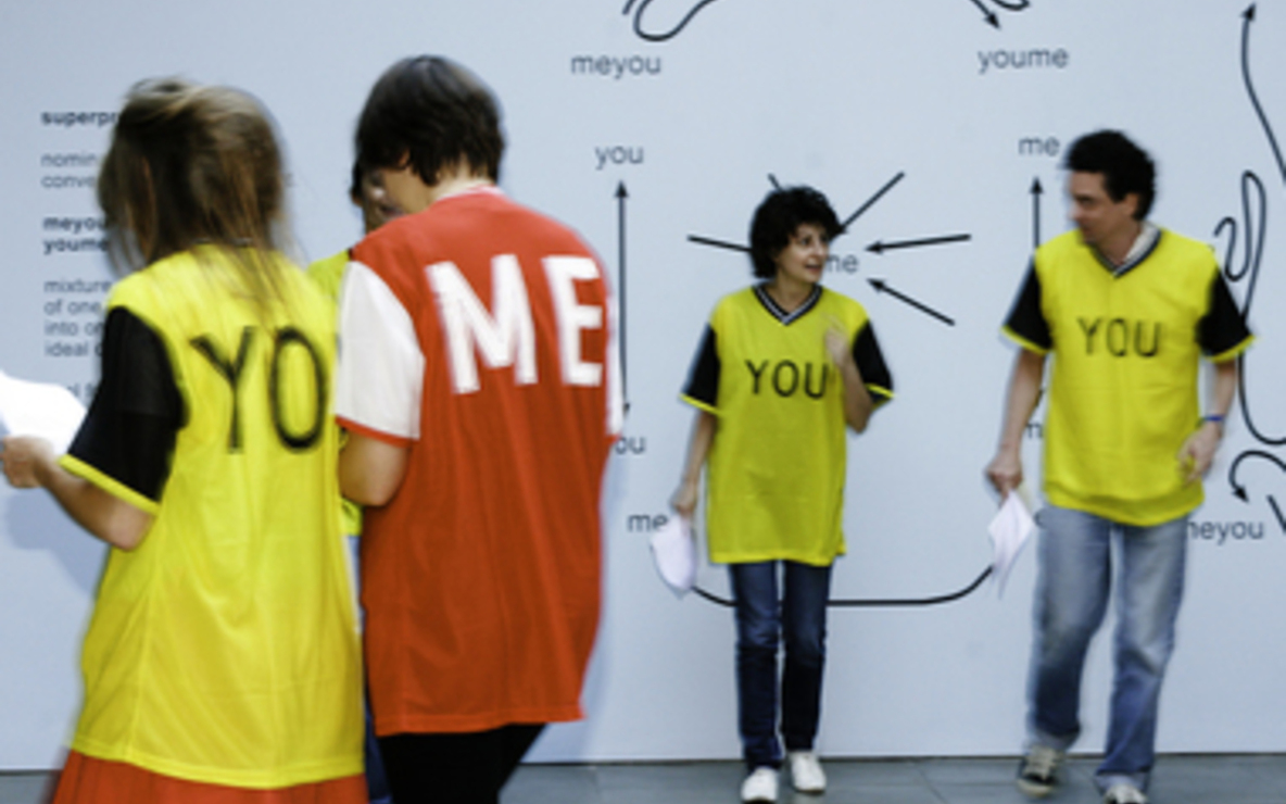 Ricardo Basbaum, *me-you: choreographies, games and exercises*, 2007. Performed at the Lisson Gallery, London. Courtesy of the artist