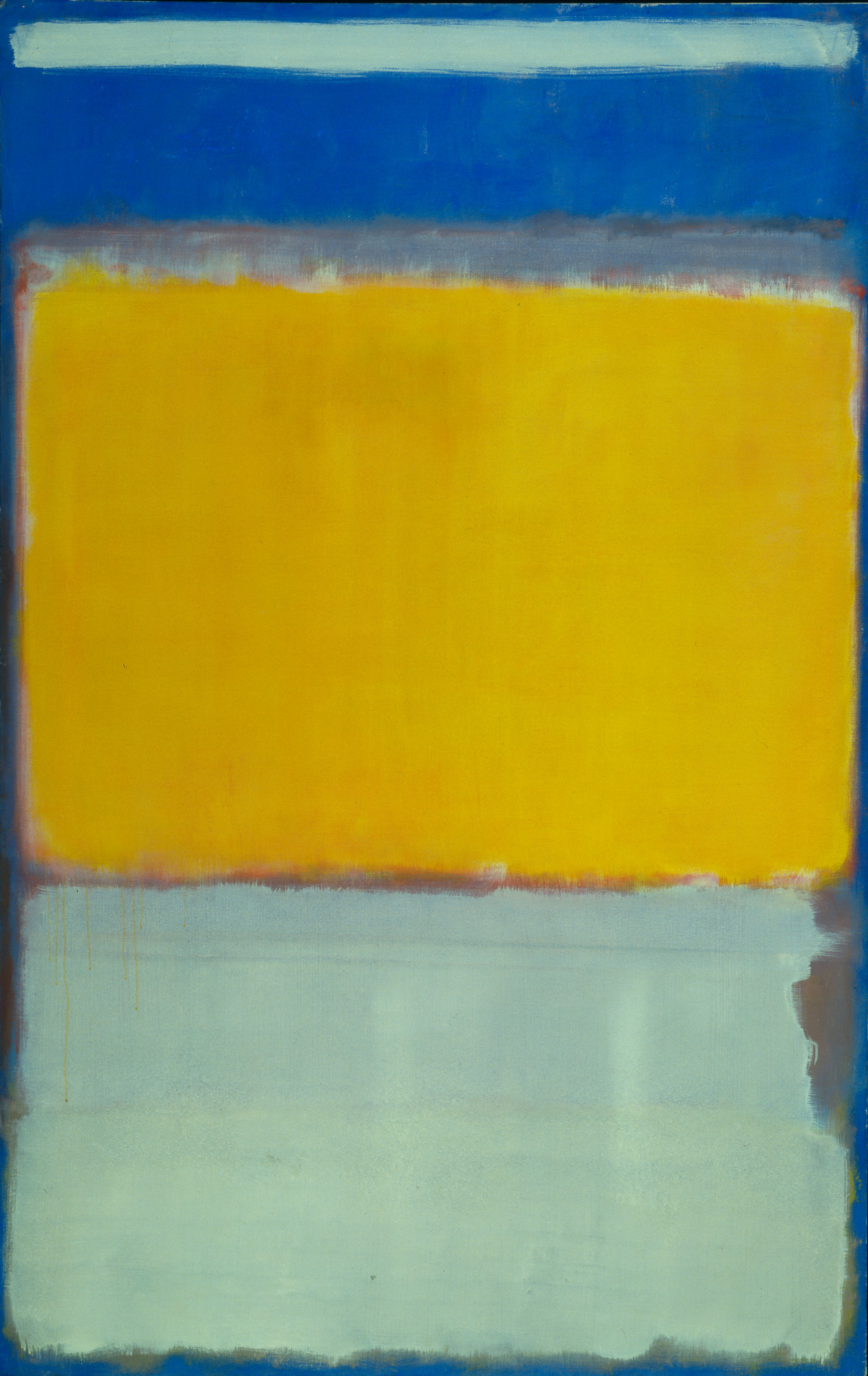 Mark Rothko. No. 10. 1950. Oil on canvas, 7′ 6 3/8″ × 57 1/8″ (229.6 × 145.1 cm). Gift of Philip Johnson. © 1998 Kate Rothko Prizel & Christopher Rothko/Artists Rights Society (ARS), New York