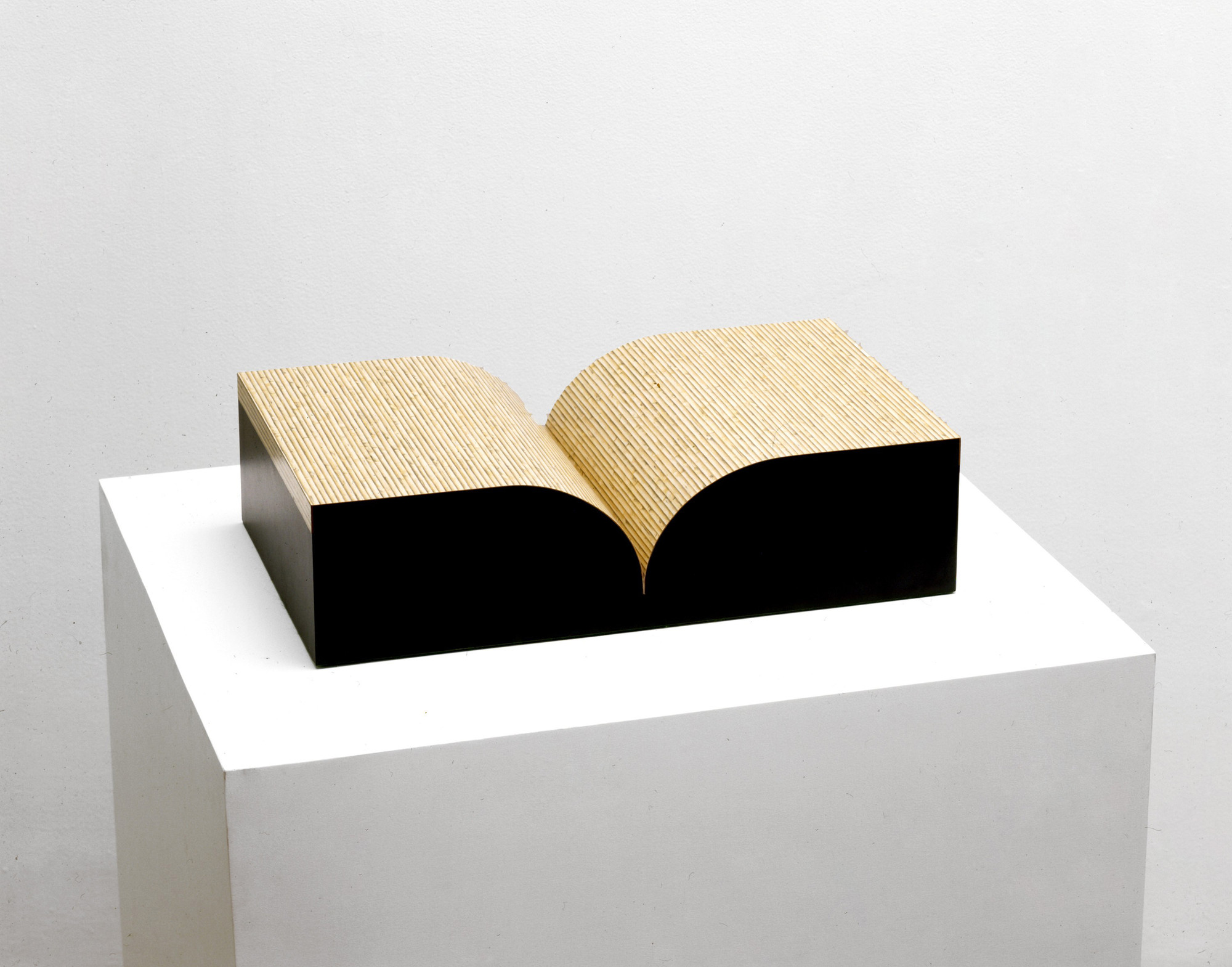 Richard Artschwager. Book. 1987. Multiple of formica and wood. object: 5 1/8 × 20 1/8 × 12 1/16″ (13 × 51.1 × 30.7 cm). The Museum of Modern Art, New York. Virginia Cowles Schroth Fund. © 2008 Richard Artschwager / Artists Rights Society (ARS), New York.