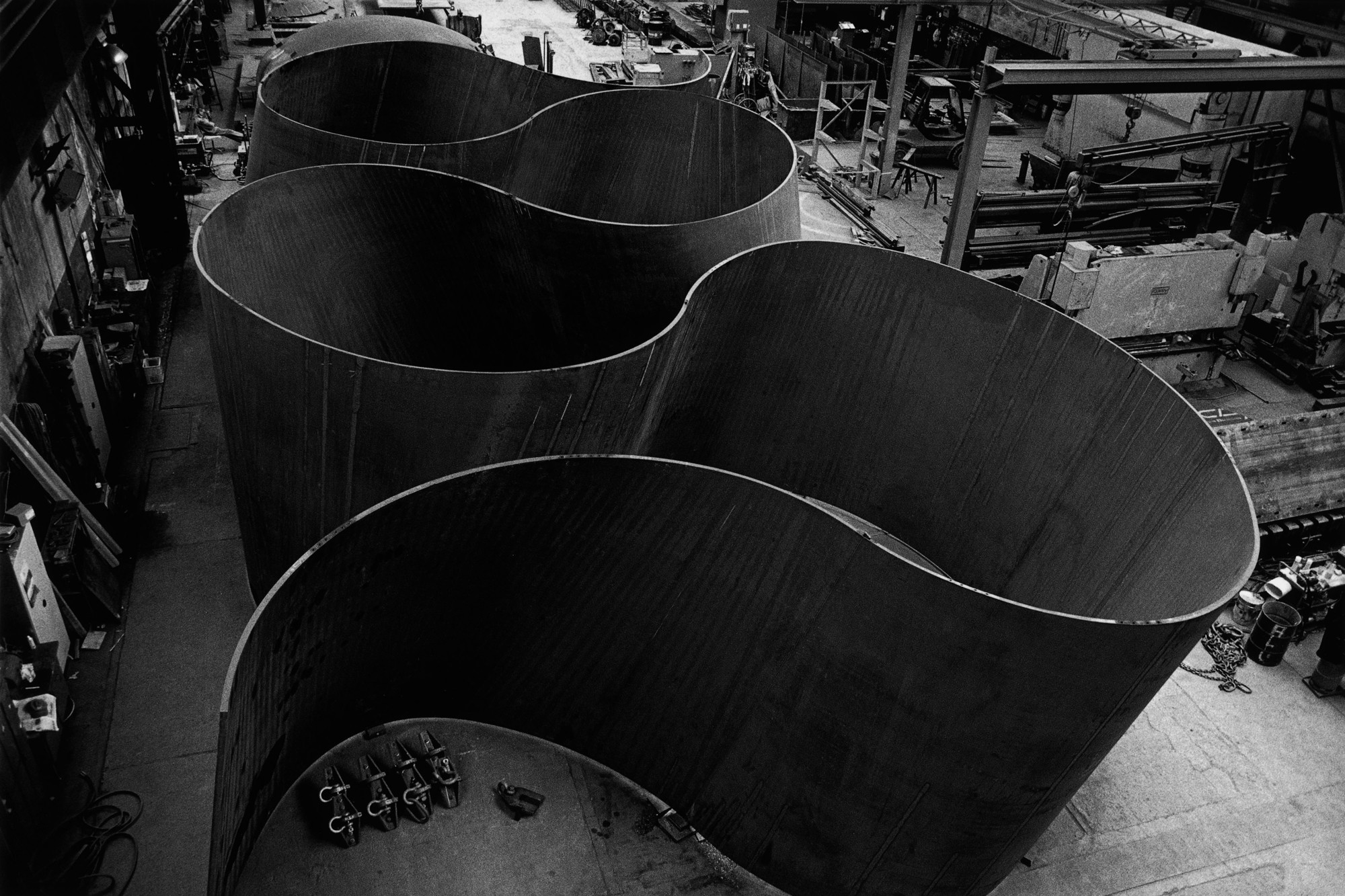Richard Serra (American, born 1938). Band. 2006. Weatherproof steel. Los Angeles County Museum of Art.  Gift of Eli and Edythe Broad