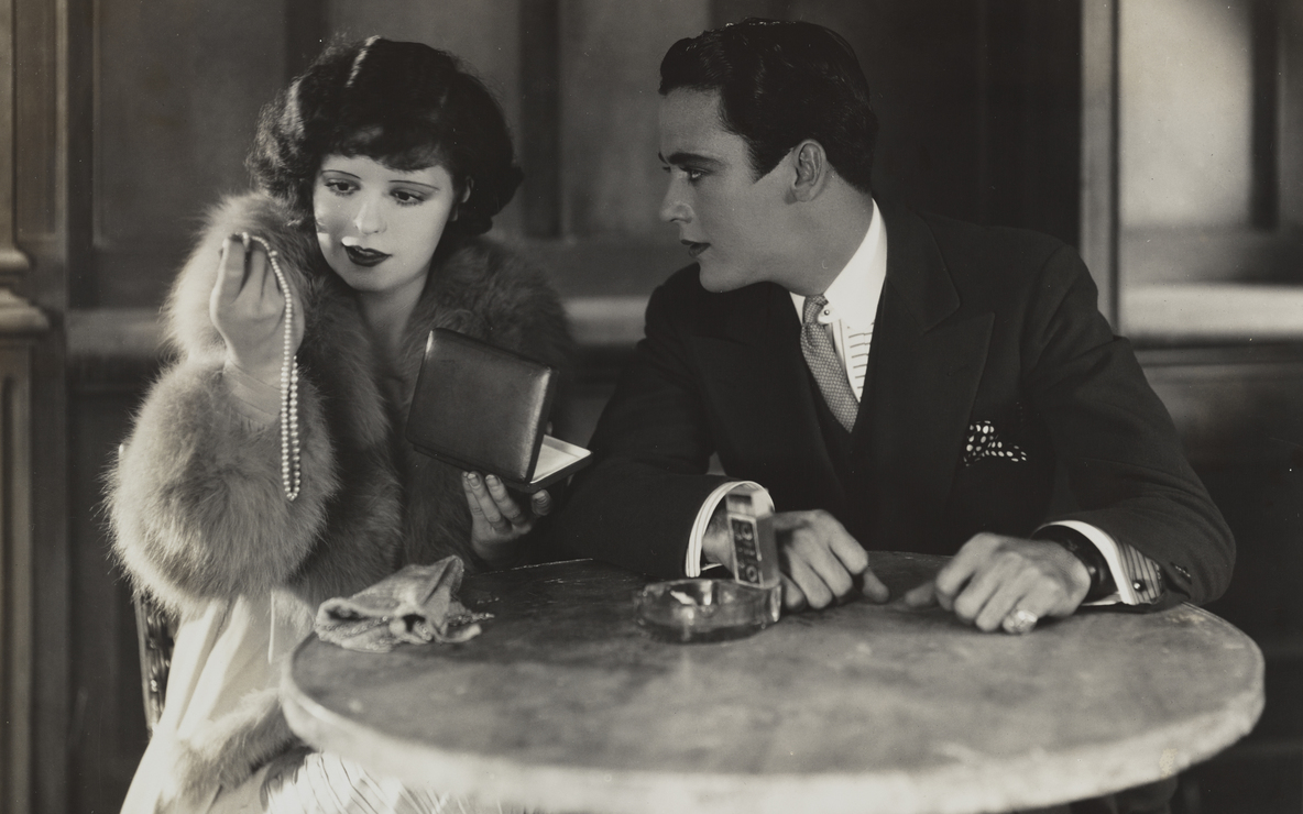 "*Get Your Man*. 1927. USA. Directed by Dorothy Arzner. Courtesy The Library of Congress. [actors, left to right: Clara Bow, Charles ""Buddy"" Rogers]"