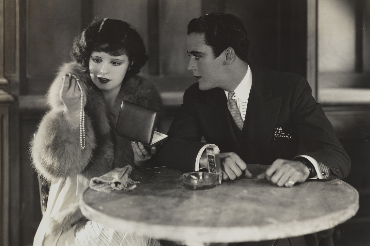 "Get Your Man. 1927. USA. Directed by Dorothy Arzner. Courtesy The Library of Congress. [actors, left to right: Clara Bow, Charles ""Buddy"" Rogers]"