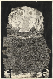 "Jean Dubuffet (French, 1901-1985). *Le Vin de barbe*. 1959. Torn-and-pasted paper with ink and ink transfer on paper, composition and sheet: 20 x 13 1/4"" (50.8 x 33.6 cm). The Museum of Modern Art, New York. Nina and Gordon Bunshaft Bequest, 1995. © 2014 Artists Rights Society (ARS), New York /ADAGP, Paris."