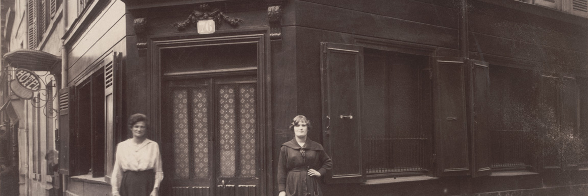 Eugène Atget. Coin, Boulevard de la Chapelle et Rue Fleury 76, 18E. June 1921. Matte albumen silver print, 6 13/16 × 9″ (17.3 × 22.9 cm). The Museum of Modern Art, New York. Abbott-Levy Collection. Partial gift of Shirley C. Burden