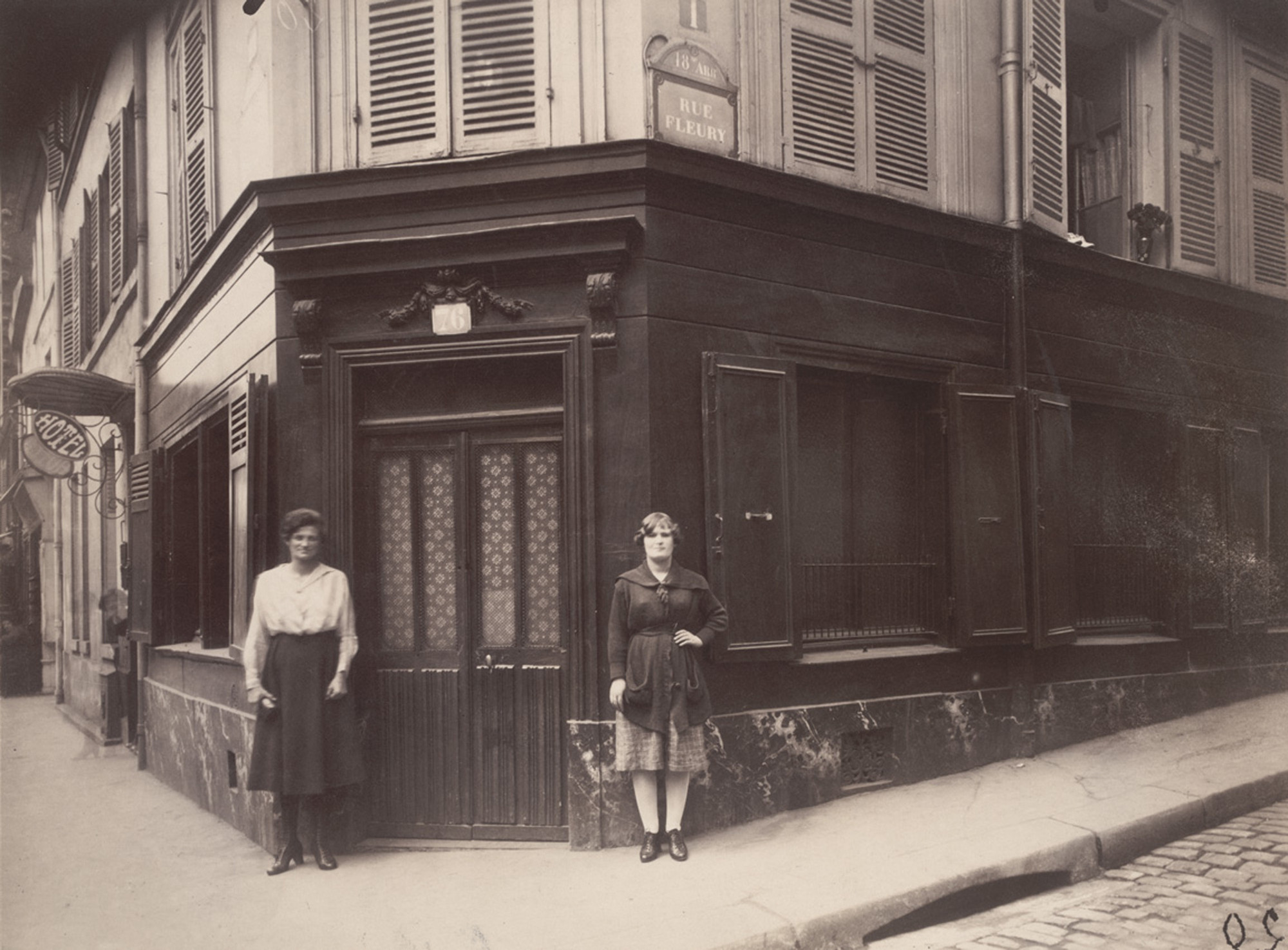 Eugène Atget. Coin, Boulevard de la Chapelle et Rue Fleury 76, 18E. June 1921. Matte albumen silver print, 6 13⁄16 × 9″ (17.3 × 22.9 cm). The Museum of Modern Art, New York. Abbott-Levy Collection. Partial gift of Shirley C. Burden