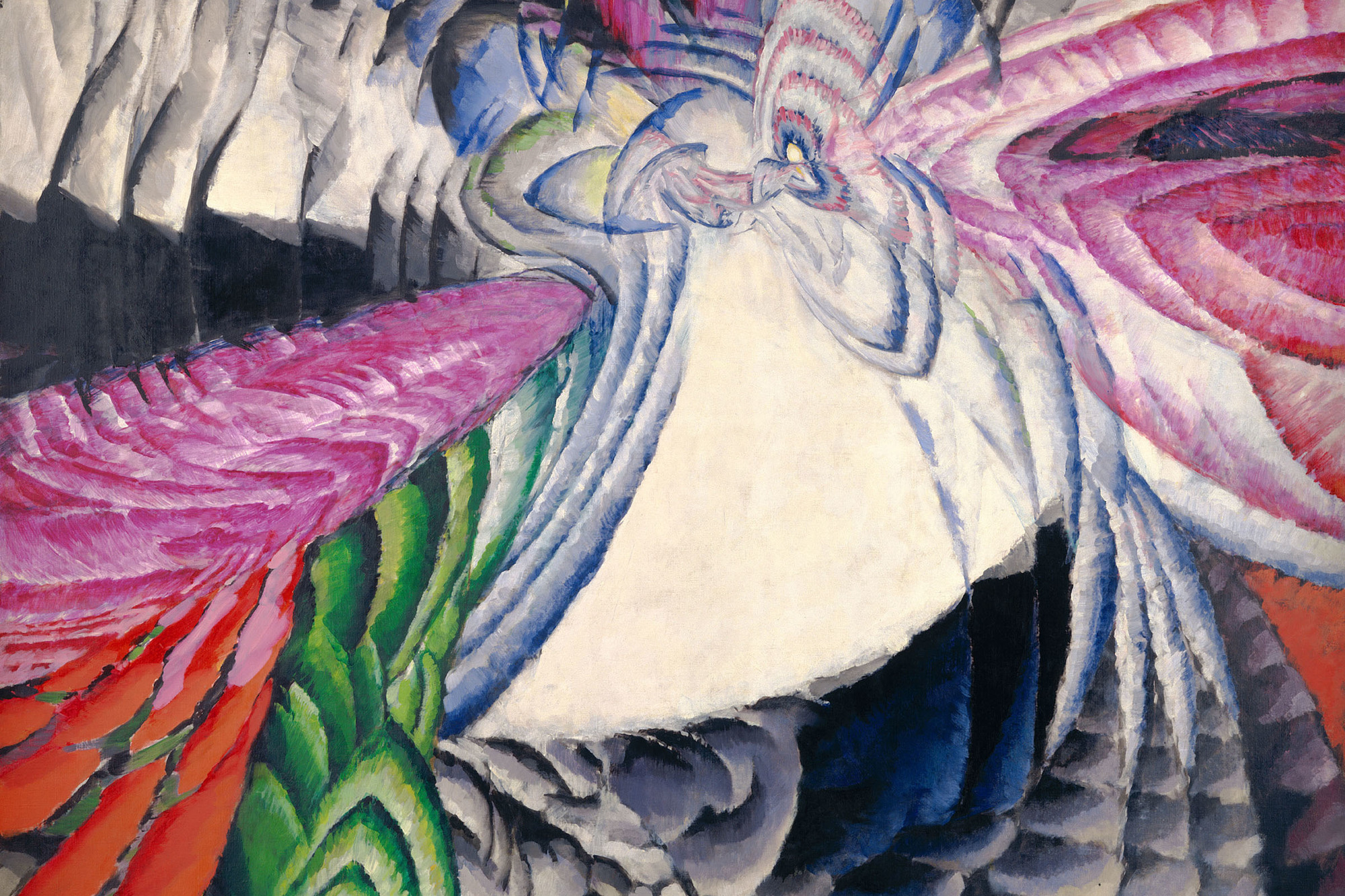 František Kupka. Localization of Graphic Motifs II. 1912–13. Oil on canvas, 78 3/4 × 76 3/8″ (200 × 194 cm), frame: 78 3/4 × 76 3/8″ (200 × 194 cm). National Gallery of Art, Washington, D.C., Ailsa Mellon Bruce Fund and Gift of Jan and Meda Mladek. Image courtesy of the National Gallery of Art, Washington. © 2012 Artists Rights Society (ARS), New York/ADAGP, Paris