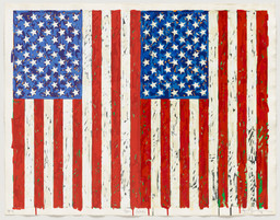 Jasper Johns. Flags I. 1973. Screenprint, 27 3/8 × 35 1/4″ (69.5 × 89.5 cm). Publisher: the artist and Simca Print Artists Inc., New York. Printer: Simca Print Artists Inc., New York. Edition: artist's proof before the edition of 65. Gift of Barbara Bertozzi Castelli, New York, 2011. © 2012 Jasper Johns/Licensed by VAGA, New York