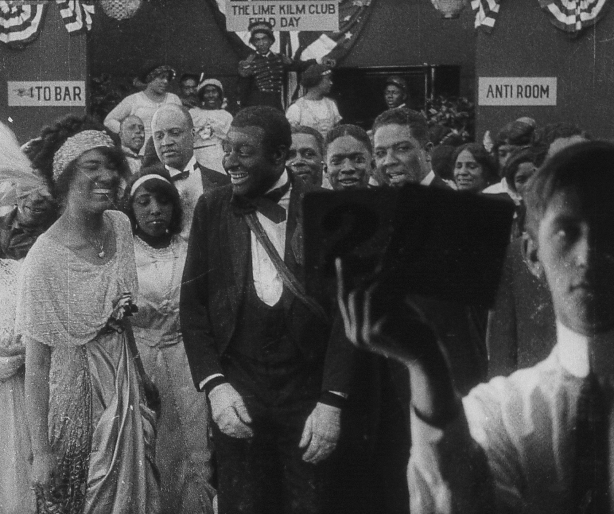 Production still from Bert Williams Lime Kiln Field Day Project. 1913. Odessa Warren Grey and Bert Williams