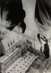 Willi Ruge (German, 1882–1961). Seconds before Landing, from the series I Photograph Myself during a Parachute Jump. 1931. Gelatin silver print, 8 1/16 × 5 9/16″ (20.4 × 14.1 cm). The Museum of Modern Art, New York. Thomas Walther Collection. Gift of Thomas Walther