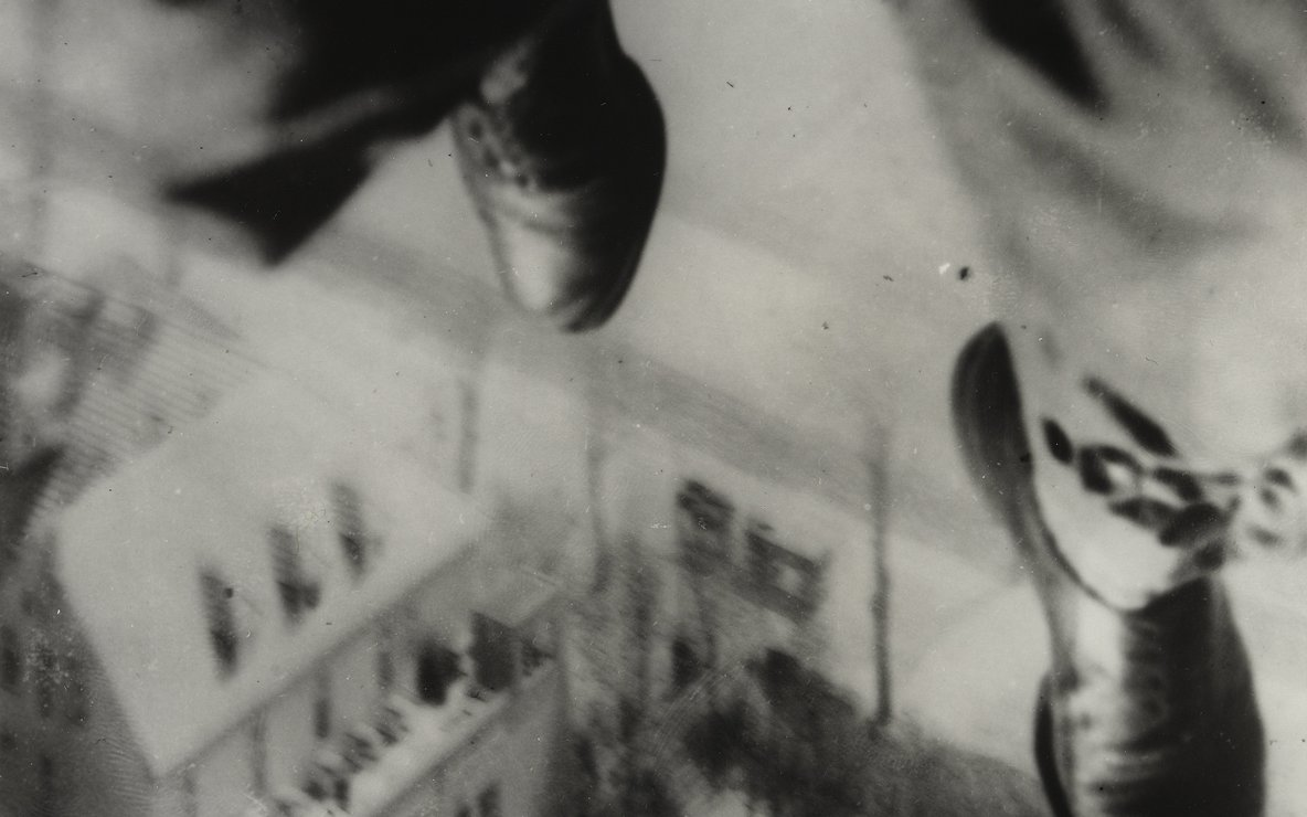Willi Ruge (German, 1882–1961). *Seconds before Landing*, from the series I Photograph Myself during a Parachute Jump. 1931. Gelatin silver print, 8 1/16 × 5 9/16″ (20.4 × 14.1 cm). The Museum of Modern Art, New York. Thomas Walther Collection. Gift of Thomas Walther