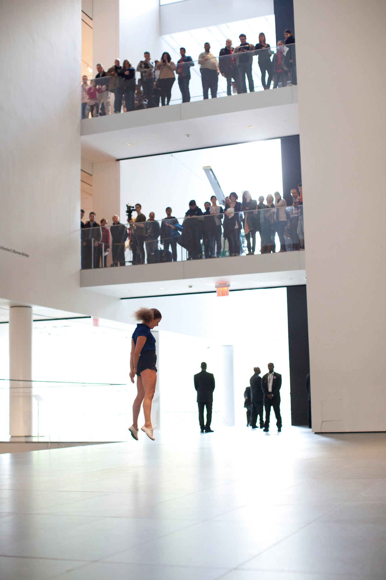 Performance of Sarah Michelson's Devotion Study #3 (2012) at The Museum of Modern Art, November 2012. Part of Some sweet day (October 15–November 04, 2012). © 2012 Museum of Modern Art, New York. Photo: Paula Court