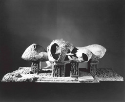 "Frederick Kiesler. Endless House. Project 1950–60; model 1958. Gelatin silver print, 8 x 10"" (25.4 x 20.3 cm). Department of Architecture and Design Study Center. Photo: George Barrows"