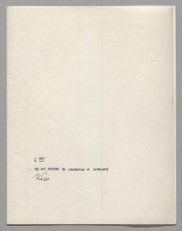 John Cage. 4′33″ (In Proportional Notation). 1952⁄53. Ink on paper, each page: 11 × 8 1/2″ (27.9 × 21.6 cm). The Museum of Modern Art, New York. Acquired through the generosity of Henry Kravis in honor of Marie-Josée Kravis, 2012. © 2013 John Cage Trust