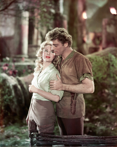 The Flame and the Arrow. 1950. USA. Directed by Jacques Tourneur. Shown, from left: Virginia Mayo, Burt Lancaster. Image courtesy of Warner Bros./Photofest
