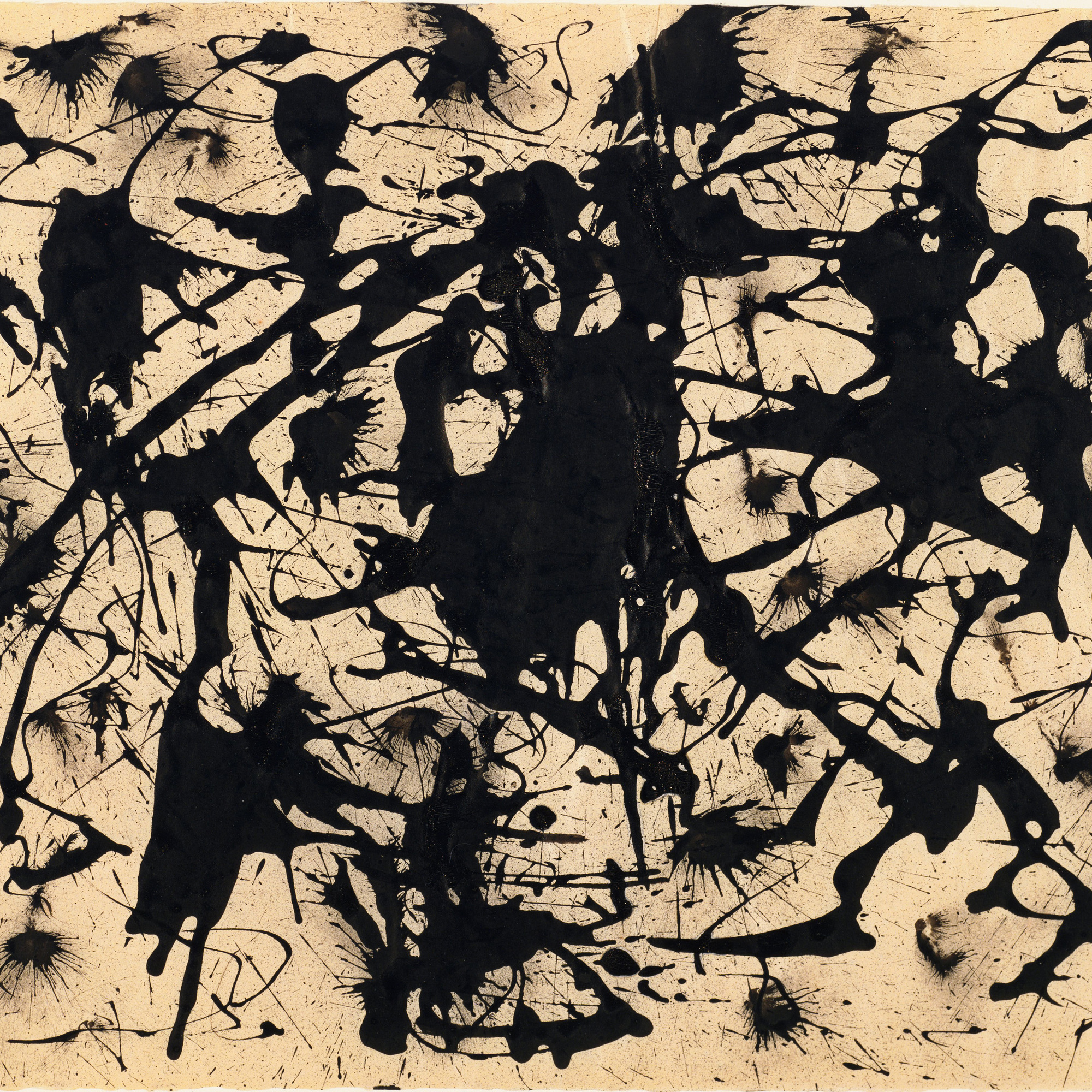 Jackson Pollock (American, 1912–1956). Untitled. c. 1950. Ink on paper, 17 1/2 x 22 1/4″ (44.5 x 56.6 cm). The Museum of Modern Art, New York. Gift of Jo Carole and Ronald S. Lauder in honor of Eliza Parkinson Cobb, 1982. © 2015 Pollock-Krasner Foundation/Artists Rights Society (ARS), New York