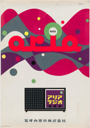 Hiroshi Ohchi. Radio. 1954. Silkscreen, 40 1/2 × 28 1/4″ (102.9 × 71.8 cm). The Museum of Modern Art, New York. Gift of the designer