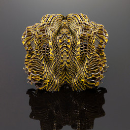 Neri Oxman (American, b. Israel 1976), Mediated Matter Group (est. 2010), Massachusetts Institute of Technology, Cambridge, MA (est. 1861), W. Craig Carter (American, b. 1961), MIT Materials Science and Engineering (est. 1974), Stratasys (est. 1989). Imaginary Beings (Medusa 2). 2012. Objet Connex500 Multi-material 3-D Bitmap Printer and colored digital powders and materials. The Museum of Modern Art, New York. Committee on Architecture and Design Funds