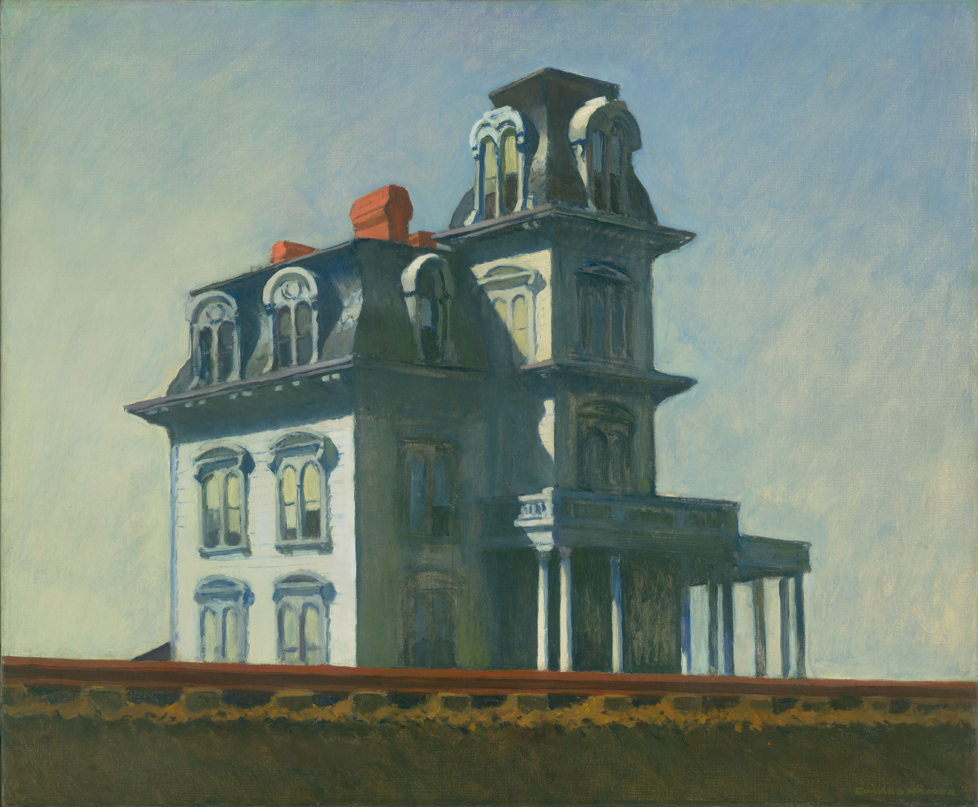 Edward Hopper. House by the Railroad. 1925. Oil on canvas, 24 × 29″ (61 × 73.7 cm). The Museum of Modern Art, New York. Given anonymously. Digital Image © The Museum of Modern Art, New York, Digital Imaging Studio