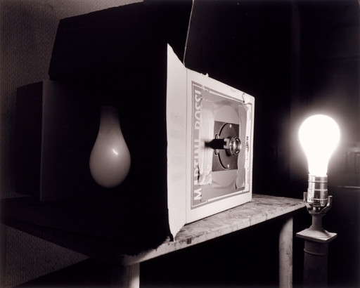Abelardo Morell (American, b. Cuba 1948). *Light Bulb.* 1991. Gelatin silver print, 17 15/16 × 22 1/4ʺ (45.5 × 56.5 cm). Acquired through the generosity of Marian and James H. Cohen in memory of their son Michael Harrison Cohen. © 2016 Abelardo Morell