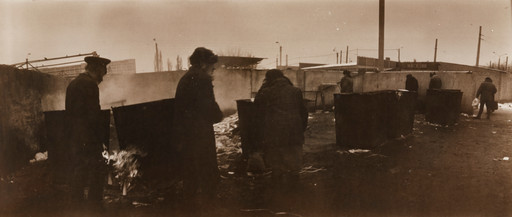 Boris Mikhailov (Ukrainian, b. 1938). *Untitled.* May–June 1991. Gelatin silver print, irregular 5 1/8 × 11 13/16ʺ (13 × 30 cm). Horace W. Goldsmith Fund through Robert B. Menschel. © 2016 Boris Mikhailov / Artists Rights Society (ARS), New York / VG Bild-Kunst, Germany