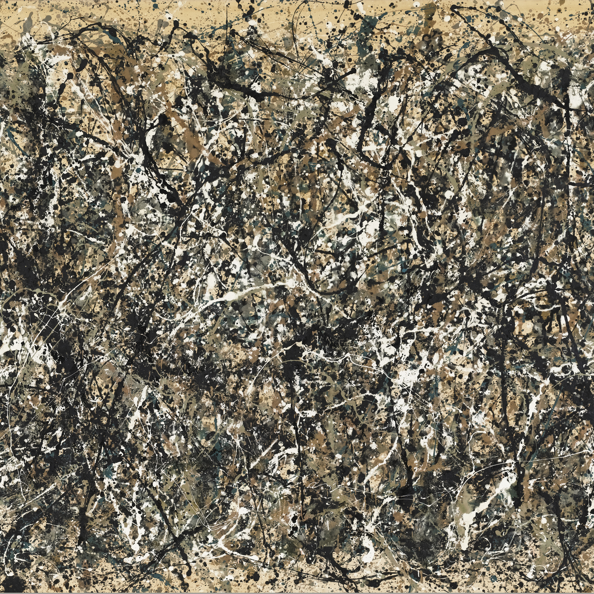 Jackson Pollock. One: Number 31, 1950. 1950. Oil and enamel paint on canvas, 8′ 10″ × 17′ 5 5/8″ (269.5 × 530.8 cm). Sidney and Harriet Janis Collection Fund (by exchange). © 2011 Pollock-Krasner Foundation / Artists Rights Society (ARS), New York