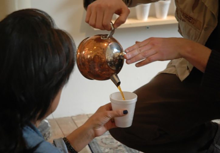 Tea Project, Headlands Center for the Arts, 2014. Image courtesy of the artist