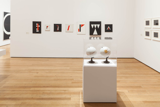 Installation view of Transmissions: Art in Eastern Europe and Latin America, 1960–1980, The Museum of Modern Art, New York, September 5, 2015–January 3, 2016. Photo: Thomas Griesel. © 2015 The Museum of Modern Art, New York