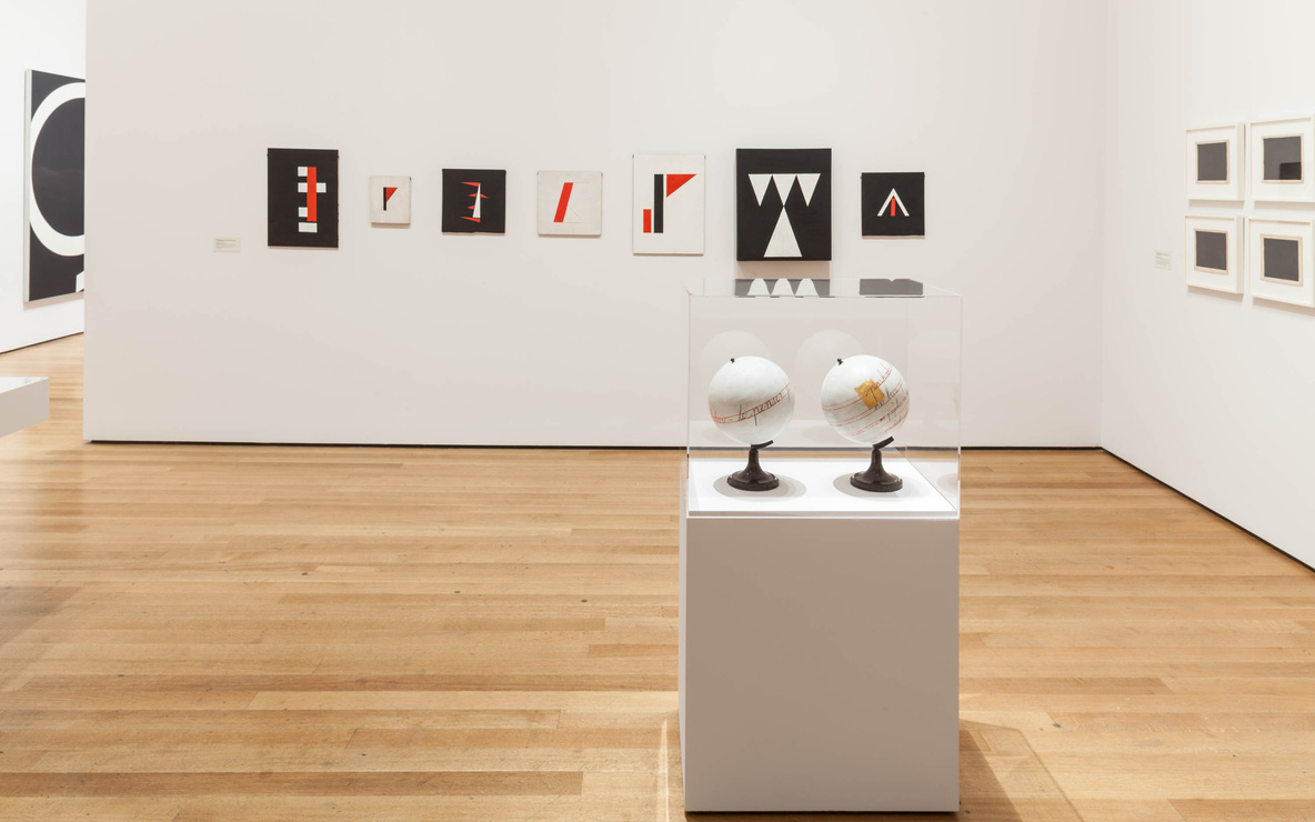 Installation view of *Transmissions: Art in Eastern Europe and Latin America, 1960–1980*, The Museum of Modern Art, New York, September 5, 2015–January 3, 2016. Photo:  Thomas Griesel. © 2015 The Museum of Modern Art, New York