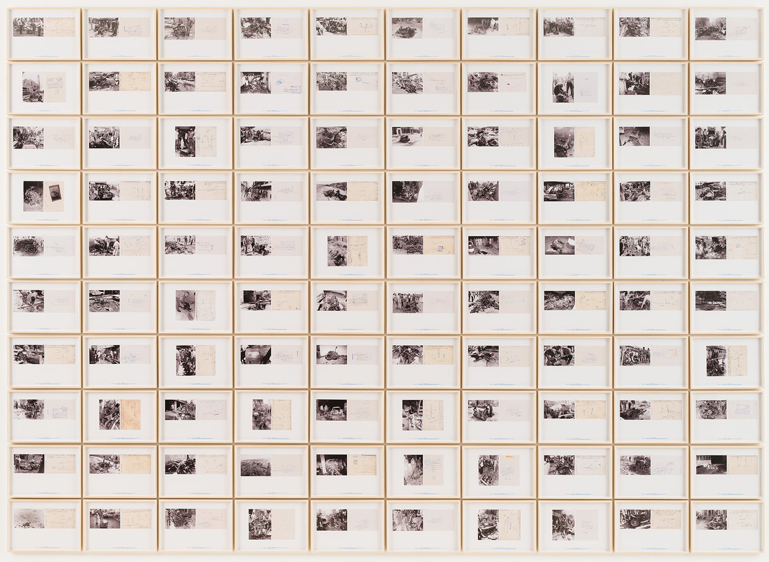 One hundred pigmented inkjet prints, each 9 7/16 x 13 3/8″ (24 x 34 cm). The Museum of Modern Art, New York. Fund for the Twenty-First Century, 2004. © 2015 Walid Raad
