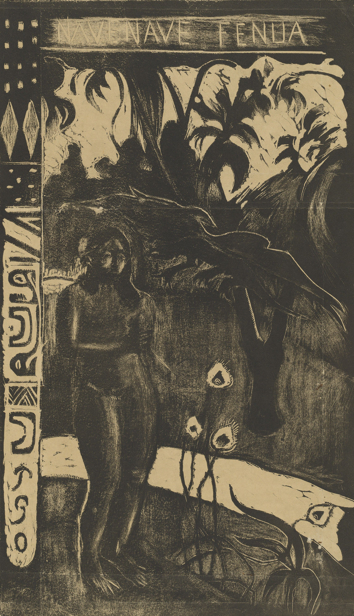 "Woodcut, comp. 14 x 8"" (35.6 x 20.3 cm). National Gallery of Art, Washington, D.C. Rosenwald Collection"