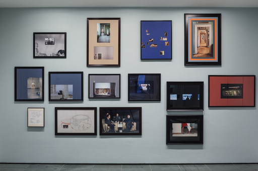 Barbara Bloom. Framing Wall. 1977–2015. Pigmented inkjet prints and photolythographs, printed and custom matted 2015. The Museum of Modern Art, New York. Gift of John Baldessari. Photo: John Wronn