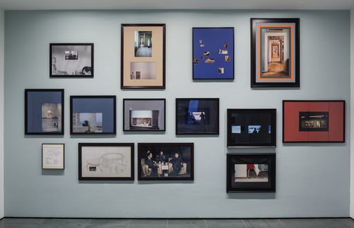 Barbara Bloom. *Framing Wall.* 1977–2015. Pigmented inkjet prints and photolythographs, printed and custom matted 2015. The Museum of Modern Art, New York. Gift of John Baldessari. Photo: John Wronn